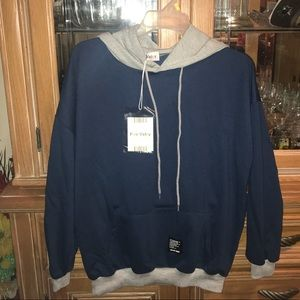 Blue and Grey Hoodie